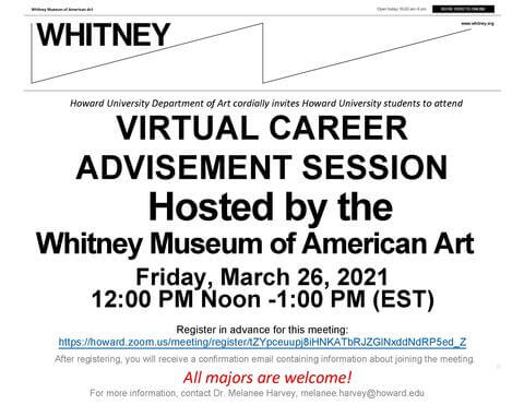 Whitney Career Advisement Session Flyer
